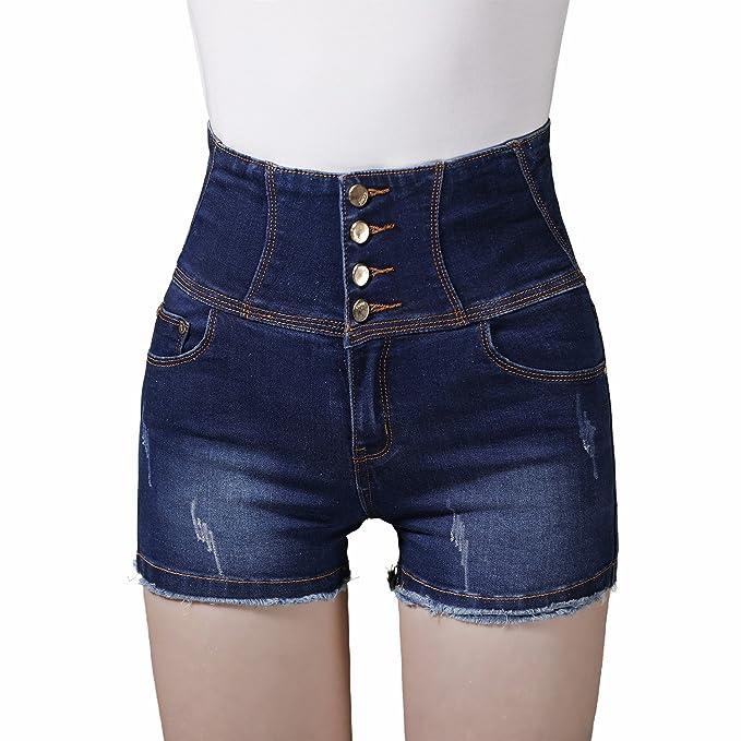 Denim Pantalones Vaqueros BásicosTienew Mujer Cortos R35ALj4