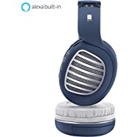 iBall Decibel BT01 Smart Headphone with Alexa Enabled – Blue, White and Silver