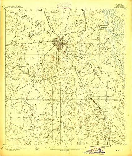 Topographical Map Of Florida.Amazon Com 1895 Ocala Fl Usgs Historical Topographic Map Fine