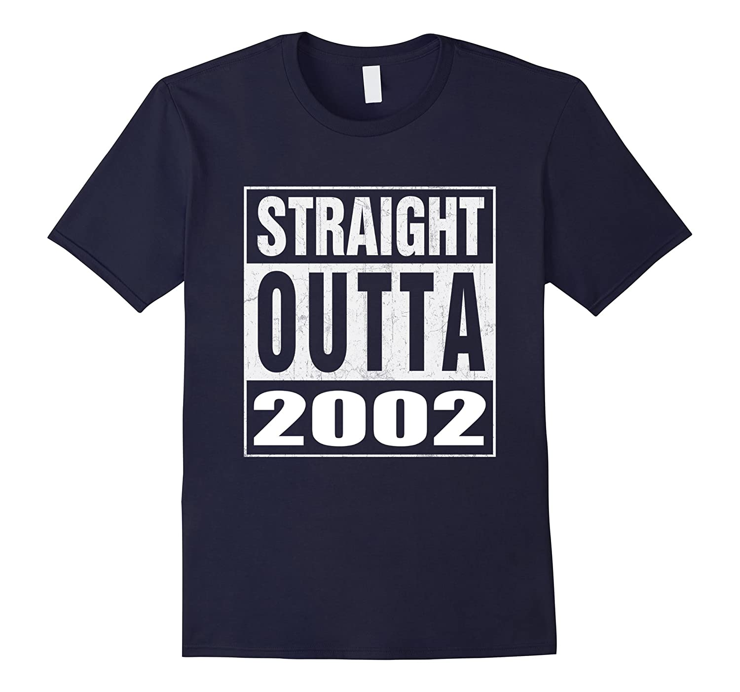 15th Birthday Gift Straight Outta 2002 T-Shirt-TH
