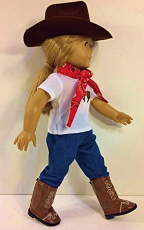 New Design Cowboy Leisure Bag For 18 inch Girl Doll Clothing Accesso G5L1
