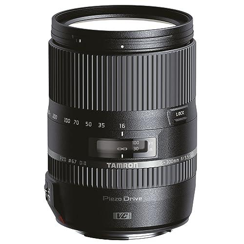 Tamron AF 16-300 mm Obiettivo Ultra-Zoom, Macro per APS-C Nikon, F/3.5-6.3 Di il VC e PZD
