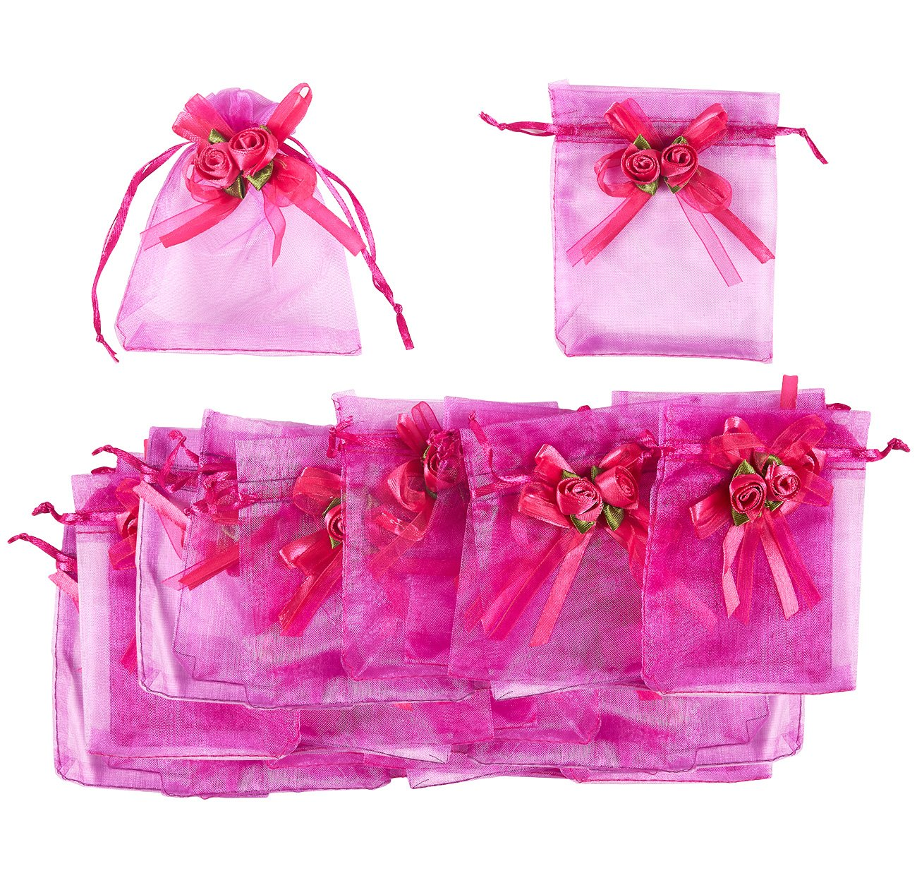 Amazon.com: Jewelry Pouch Drawstring Bag – 100 Piece Organza Gift ...