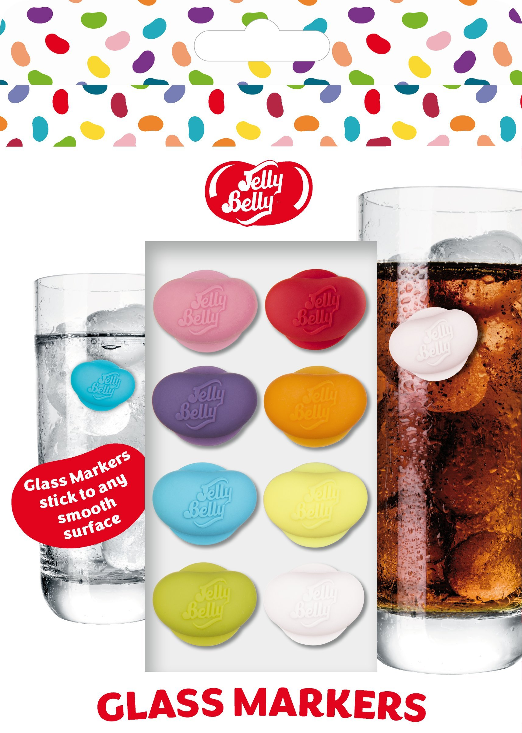 Jelly Belly Glass Markers 2 Set's of 8