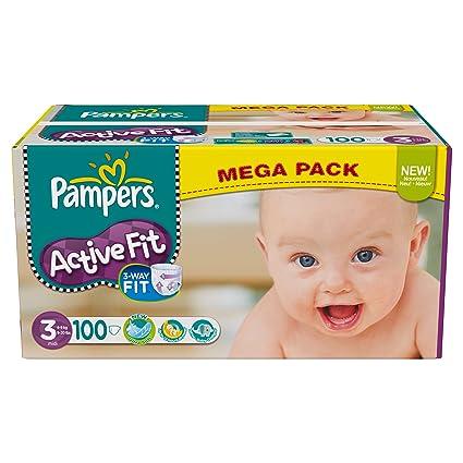 Pampers 81371245 - Paquete de pañales (talla 3: 4-9 kg, 100