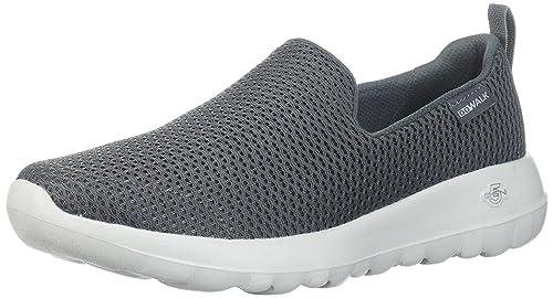 Skechers Go Walk 4, Zapatillas Sin Cordones para Mujer, Gris (Grey/Turquoise), 40 EU