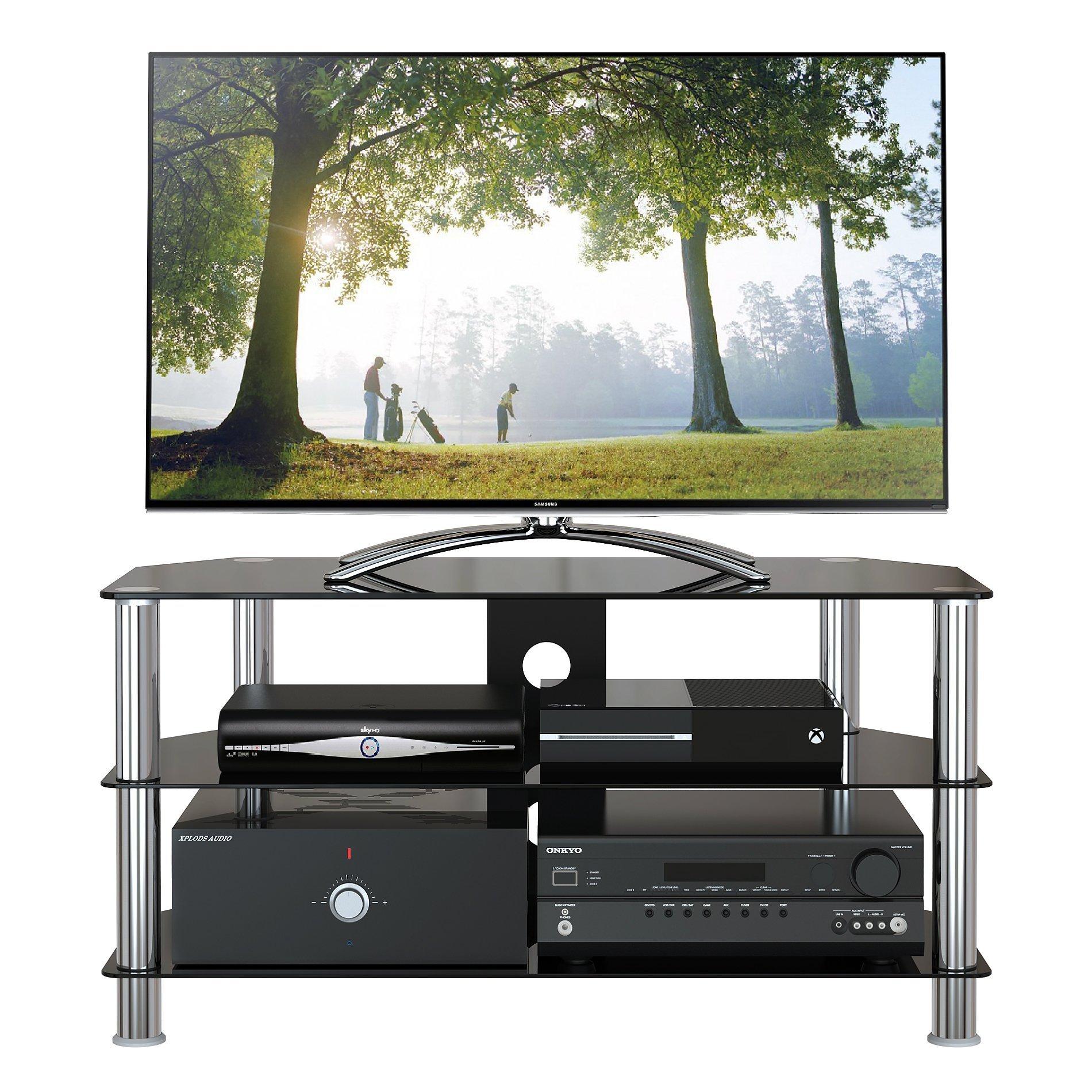 091d0543c 1home Soporte Vidrio Templado Negro de TV para 32-60pulgadas 100 cm de  Ancho de