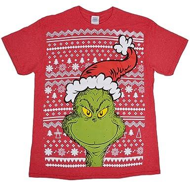Dr. Seuss The Grinch Merry Grinchmas T-Shirt Christmas Tee (L ... 9f14993b2