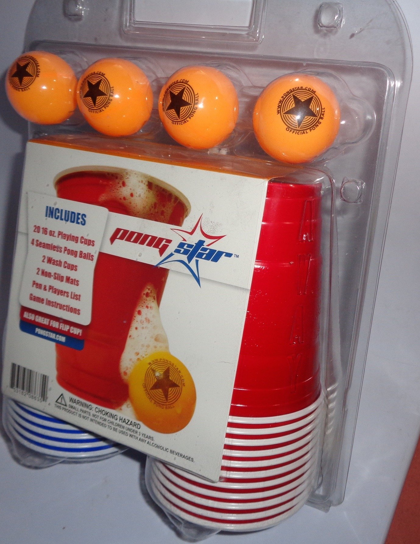 Pong Star Beer Cup Kit