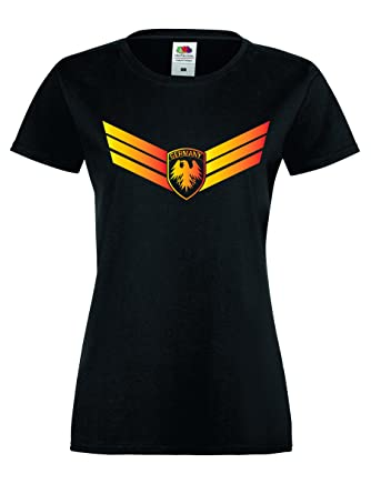 Shirt-Checker WM 2018 Shirt Damen Fussball Deutschland Shirt Germany T-Shirt  Damen Trikot