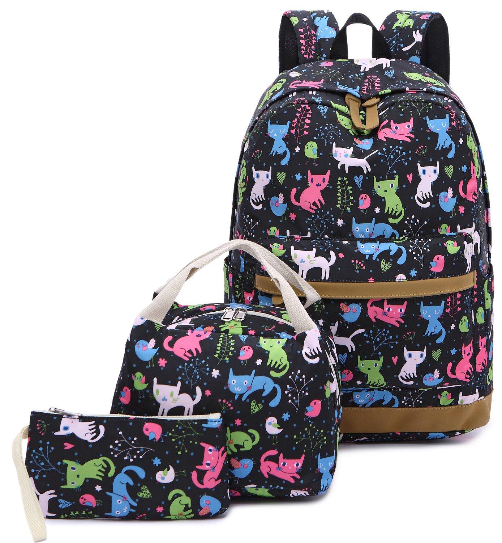 11cb80991dbb Galleon - Backpack For School Girls Teens Bookbag Set Water Resistant 15