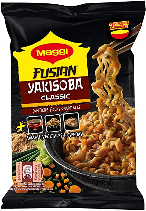 Maggi Fusian Yakisoba Noodles Curry, Fideos Orientales ...