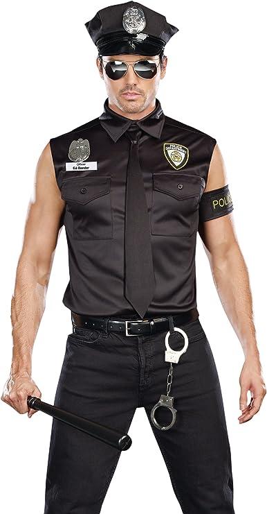 Dreamgirl Mens Dirt Cop Officer Ed Banger Costume