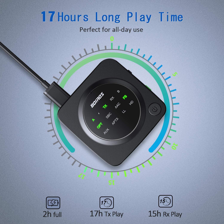 Adaptador de Audio inal/ámbrico port/átil 2 en 1 adaptadores de Coche Receptor de 3,5mm para Coches para TV #N//A//a Receptor transmisor Bluetooth 5,0