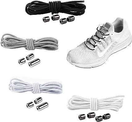 YAVO-EU Cordones elásticos Sin Nudo para Zapatillas (4 piezas 4 ...