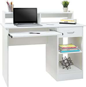 Best Choice Products Computer Laptop Work Station Desk Table for Home, College, Office - White