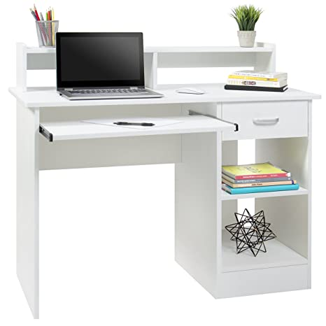 Brilliant Best Choice Products Computer Desk Home Laptop Table College Home Office Furniture Work Station White Home Interior And Landscaping Transignezvosmurscom