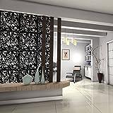 Kernorv DIY séparateur de pièce en PVC respectueux de l', 12Pcs simple et moderne à suspendre Panneau d'écran pour décorer Beding, salle à manger, Étude et Sitting-room, hôtel, bar et à l'école, noir
