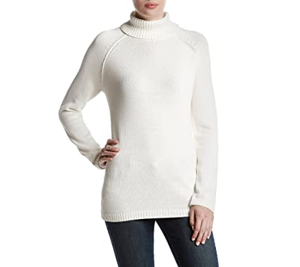 90c1b4992 Jeanne Pierre Turtleneck Sweater Powder Medium at Amazon Women s ...