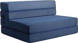 Milliard Tri-Fold Foam Folding Mattress and Sofa Bed for Guests (Twin XL)