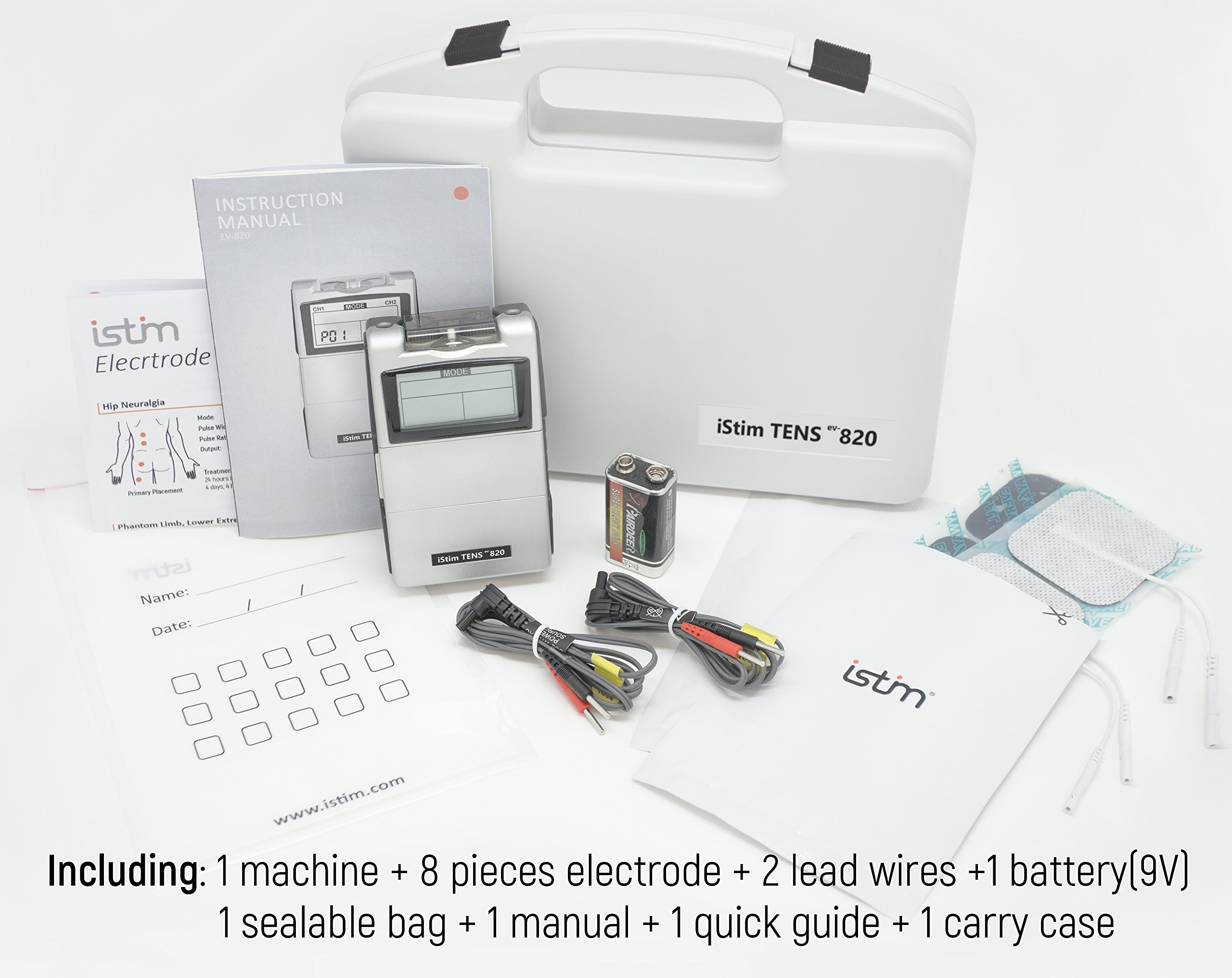 FDA Cleared TENS Unit iStim EV-820 TENS Machine for Pain Management, Back Pain and Rehabilitation by iSTIM (Image #6)