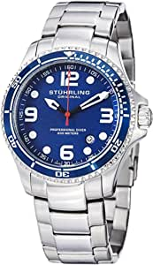 ستيرلينج ساعة عملية كاجوال رجال انالوج بعقارب ستانلس ستيل - 593.332U16