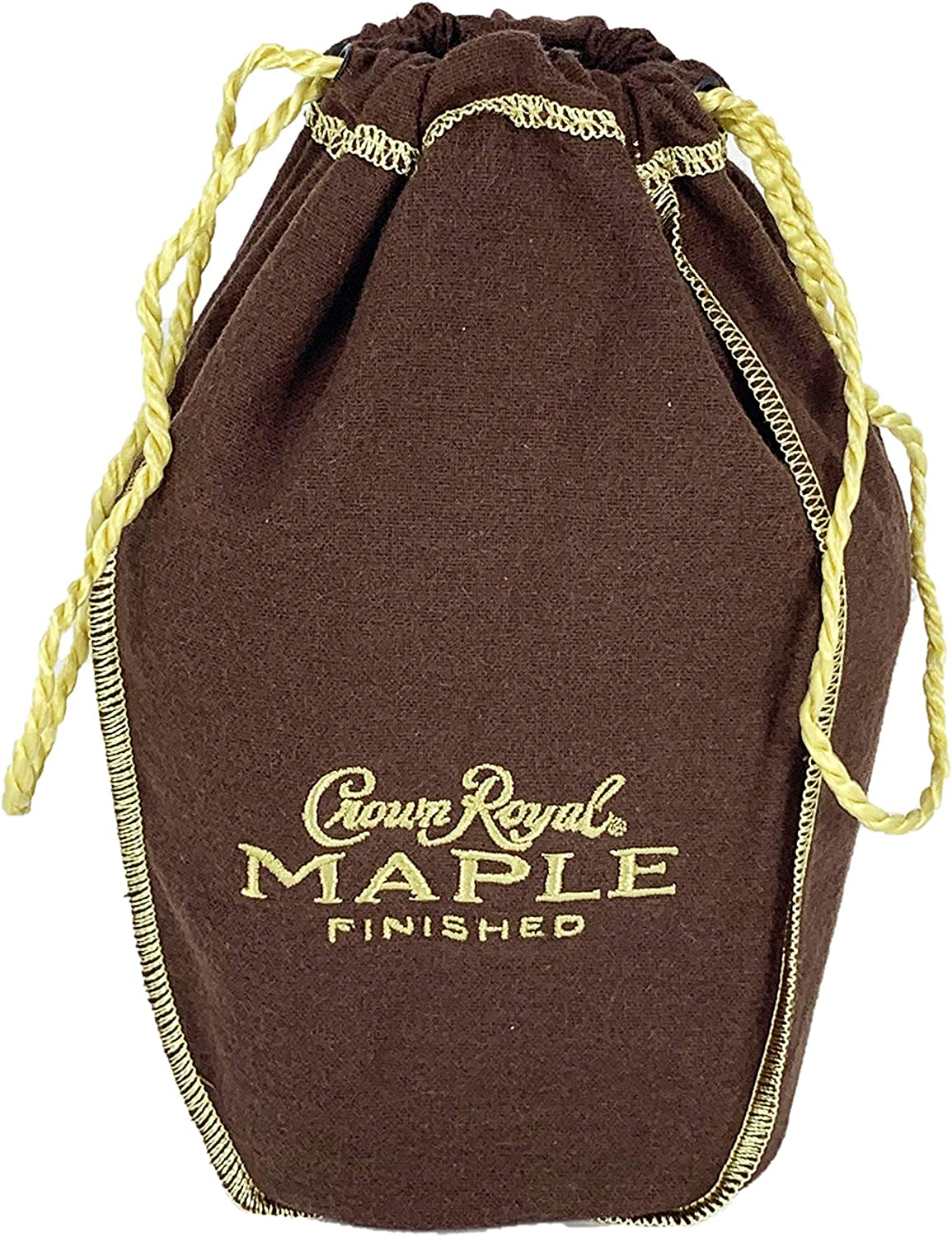Crown Royal Bag only with Drawstring | Retired and Select Colors and Brands (Brown with Happy Holidays)
