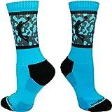 MadSportsStuff Sublimated Basketball Player Athletic Crew Socks