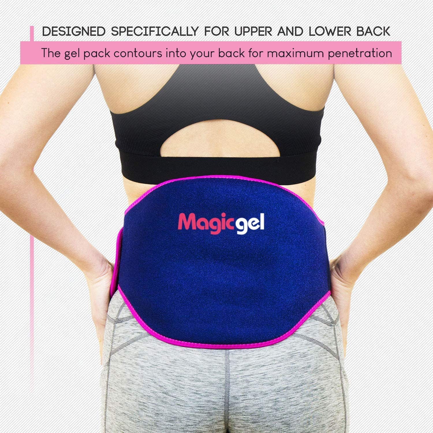 Back Pain Relief Gel Pack: Hot or Cold Ice Packs for Back Injuries