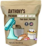 Anthony's Premium Cream of Tartar, 2 lb, Gluten Free, Food Grade, Non GMO, USP, FCC, Made in USA