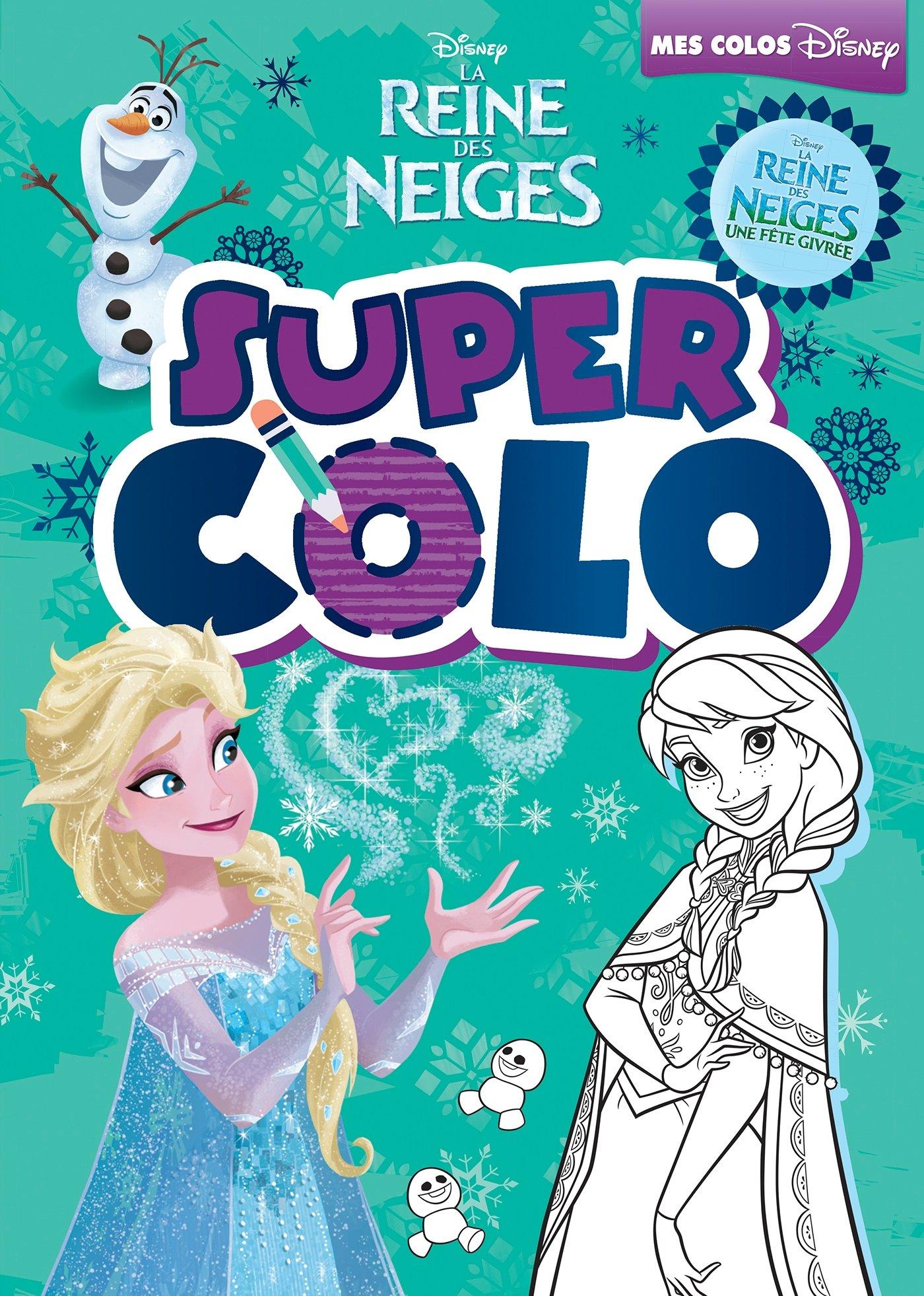 Vanity Coloriage Reine Des Neiges.La Reine Des Neiges Super Colo Amazon Fr Disney Livres