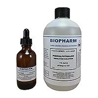 Biopharm Phenolphthalein pH Indicator 1% Solution 500 ml (16 oz) Bottle Plus 1 Dropper...
