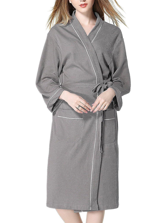Imocrico お風呂上りにサッと羽織れる バスローブ