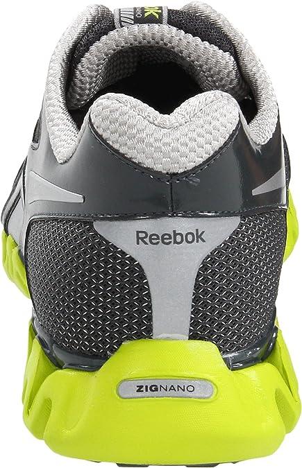 Reebok fille Zig Nano ZigNano Fly 2 Chaussures De Course TAILLES nouveau dans la boîte Gris Argent Rose