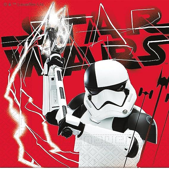 101 piezas Party * Star Wars 8 * para cumpleaños infantiles, incluye platos, vasos, servilletas, invitaciones, bolsas de fiesta, Mantel, globos, ...
