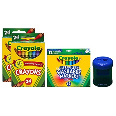 Crayola Washable Markers, Broad Line (Markers + Crayons): Toys & Games