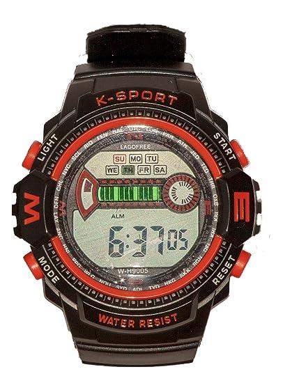 LAGOFREE WH9005 NARANJA - Reloj Deportivo resistente al agua Unisex - Digital: Amazon.es: Relojes