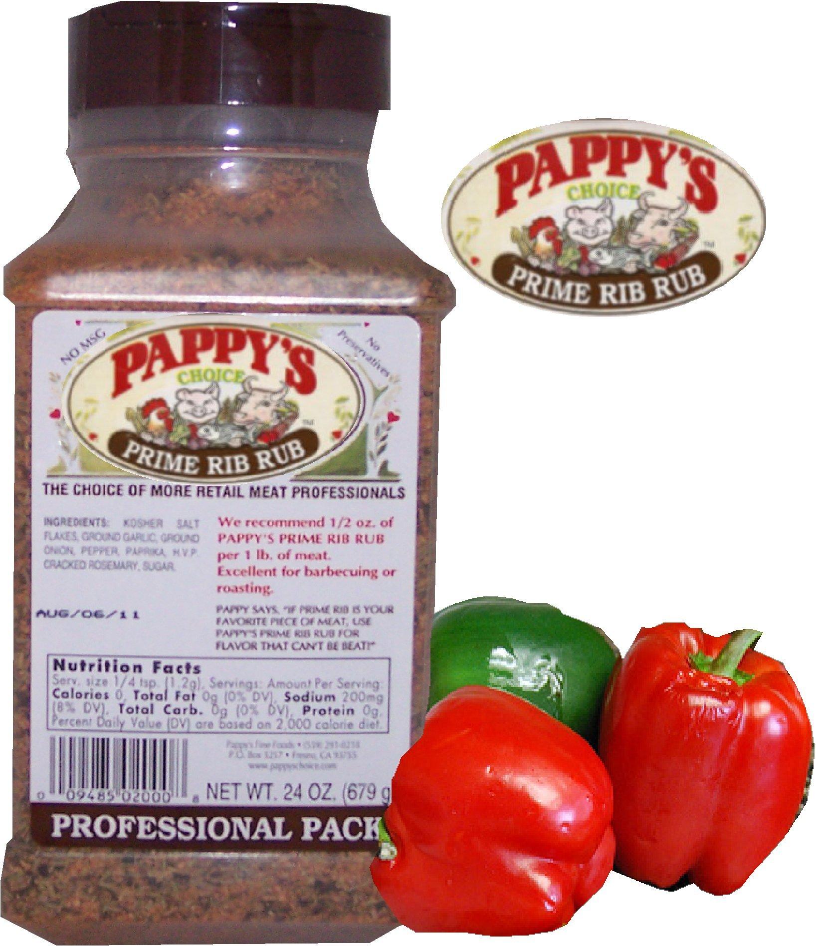 Pappy's Choice Seasoning Prime Rib Rub (24 Oz Professional Pack)