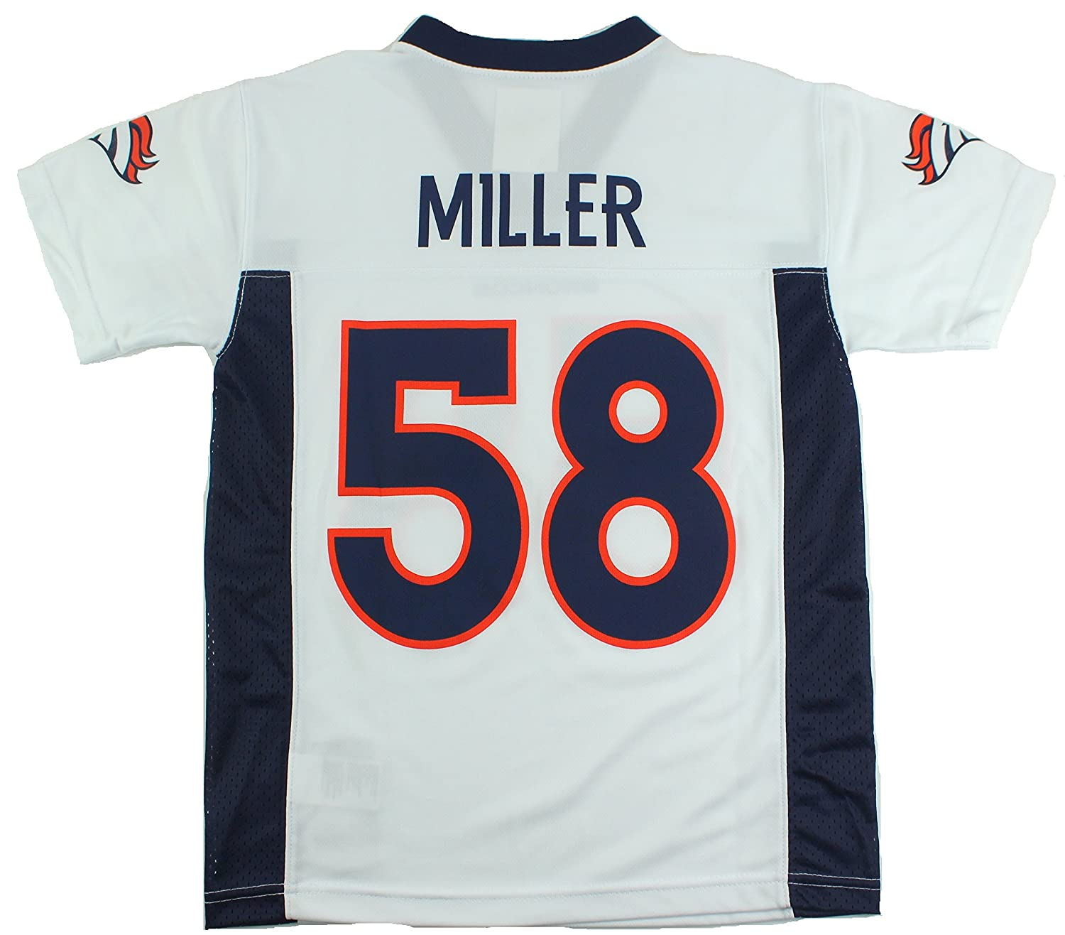 58db2a5c5 Amazon.com   Outerstuff Von Miller Denver Broncos  58 NFL Youth Mid-Tier  Jersey White (Youth Xlarge 18 20)   Sports   Outdoors