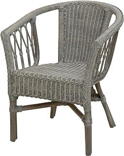 Korb.outlet Rattan Chair Royal Grey