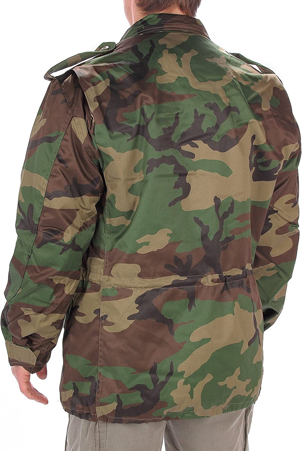 Mil-Tec US Army M65 FIELD JACKET Uomo con Thermo Liner Woodland