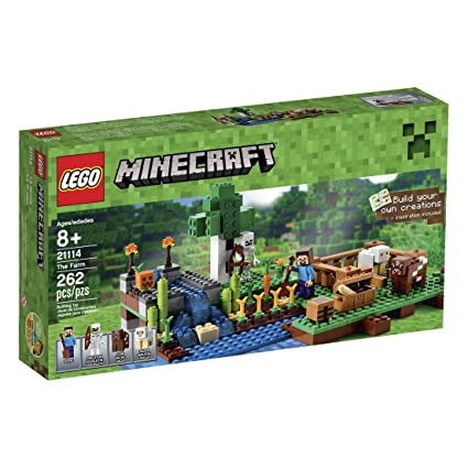 Amazon.com: LEGO Minecraft 21114 The Farm: Toys & Games