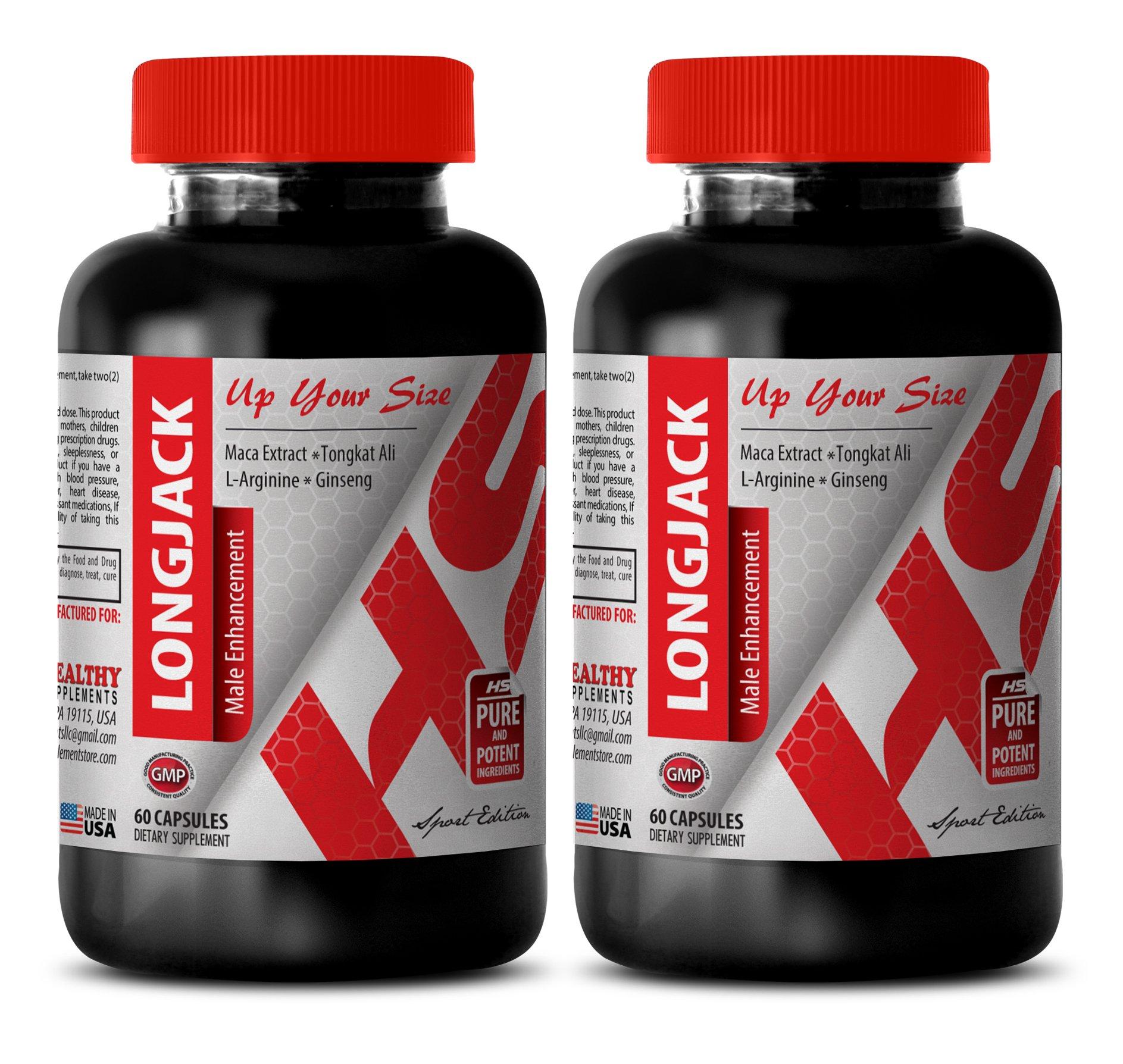 Libido increase men - LONGJACK - MALE ENHANCEMENT - UP YOUR SIZE - Tongkat ali jack - 2 Bottles 120 Capsules