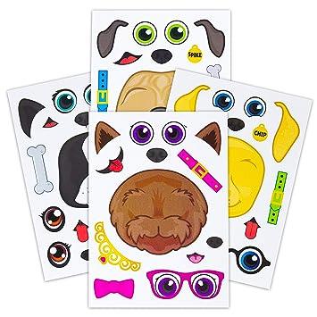 Amazon.com: 24 pegatinas de perro para niños, ideal para ...