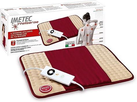 Imetec - Intellisense HP 01 Almohadilla eléctrica multifunción, mando digital con 5 niveles de temperatura, tejido de microfibra hipoalergénica, lavable, 40 x 35 cm: Amazon.es: Salud y cuidado personal