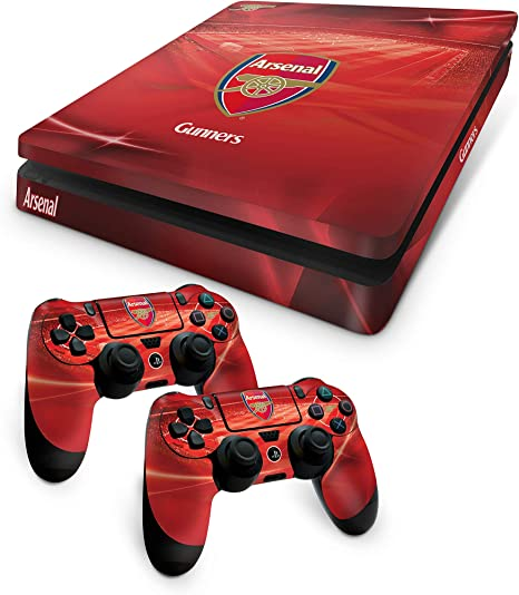Official Arsenal FC PS4 Slim Console Skin and 2x Controller Skin ...