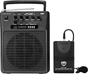 Nady WA-120BT LT Wireless Portable compact P.A full-range speaker system with built-in amplifier, BLUETOOTH, mp3 player, mixer, lavalier wireless microphone