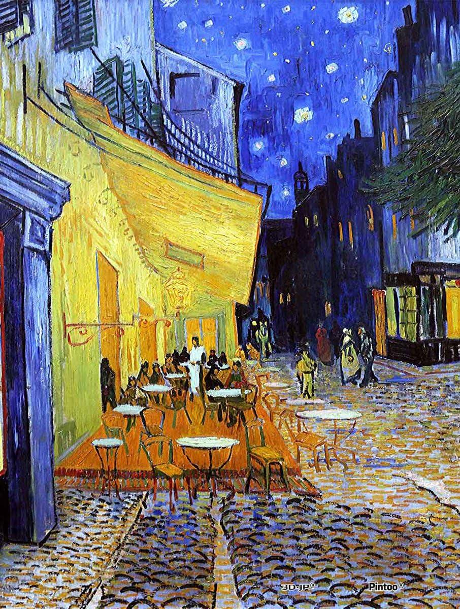 Pintoo The Starry Night Vincent Van Gogh H1758 June 1889-500 Piece Plastic Puzzle
