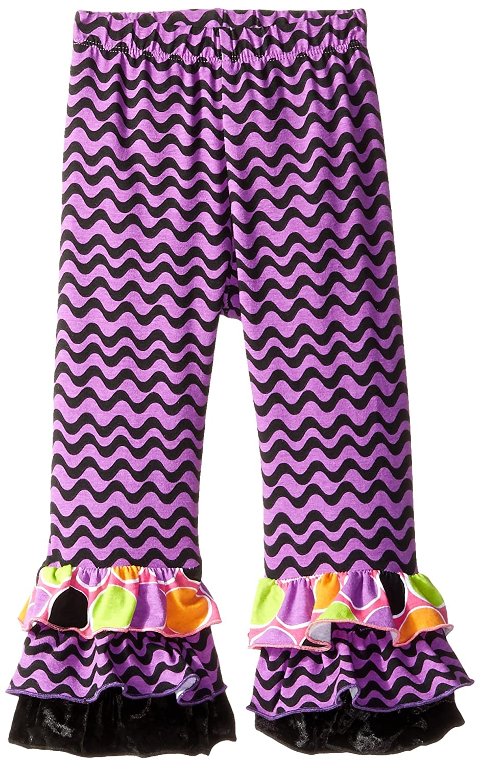 Wisteria Waves Flap Happy Baby Girls Triple Ruffle Pant 18 Months