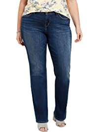 42df3139 Silver Jeans Co. Womens Plus-Size Plus Size Avery Curvy Fit High Rise Slim